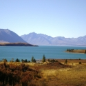 View of Lake Tekapo from Cowan's Hill