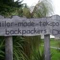 Tailor Made Backpackers sign
