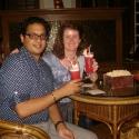 Rayan and I, at Raffles Bar