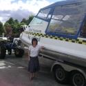 Me in front of aqua taxi