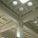 Inside roof of ASB Bank, Maori motifs