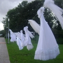 Bridesmaid dresses for Fringe Festival in Westerpark