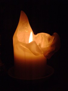 A well-burned candle