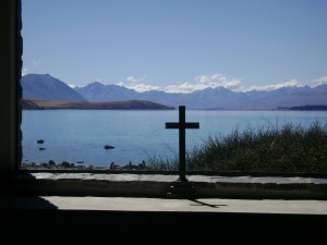 Good Sheperd church window, Lake Tekapo