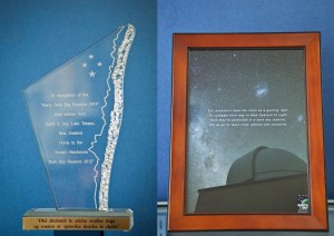 Glass Trophy & Poem for Kerry I.D.S.R.