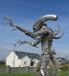 Alien outside Kerry Dark Sky Office