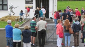 People outside Kerry I.D.S.R. office for opening.