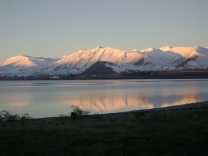 Lake Tekapo's mountains