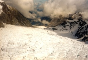 Fox Glacier view from helicopter