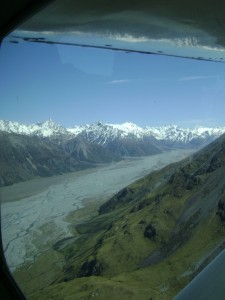 View of a braided river