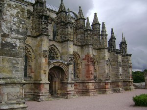 Outside Rosslyn Chapel, Scotland