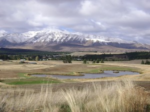 View from The Cairns Golfcourse, Lake Tekapo, New Zealand