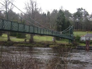 Suspension Bridge over Tummel River, Pitlochry