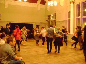Swing dance social dancing