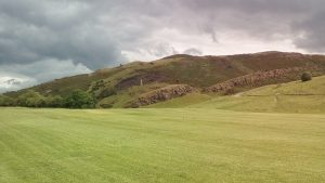 View of hills from Holyrood Park