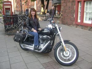 Me on a Harley Davidson