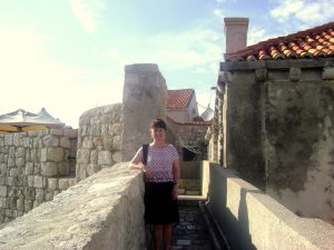 Martina on Walls of Dubrovnik, Croatia