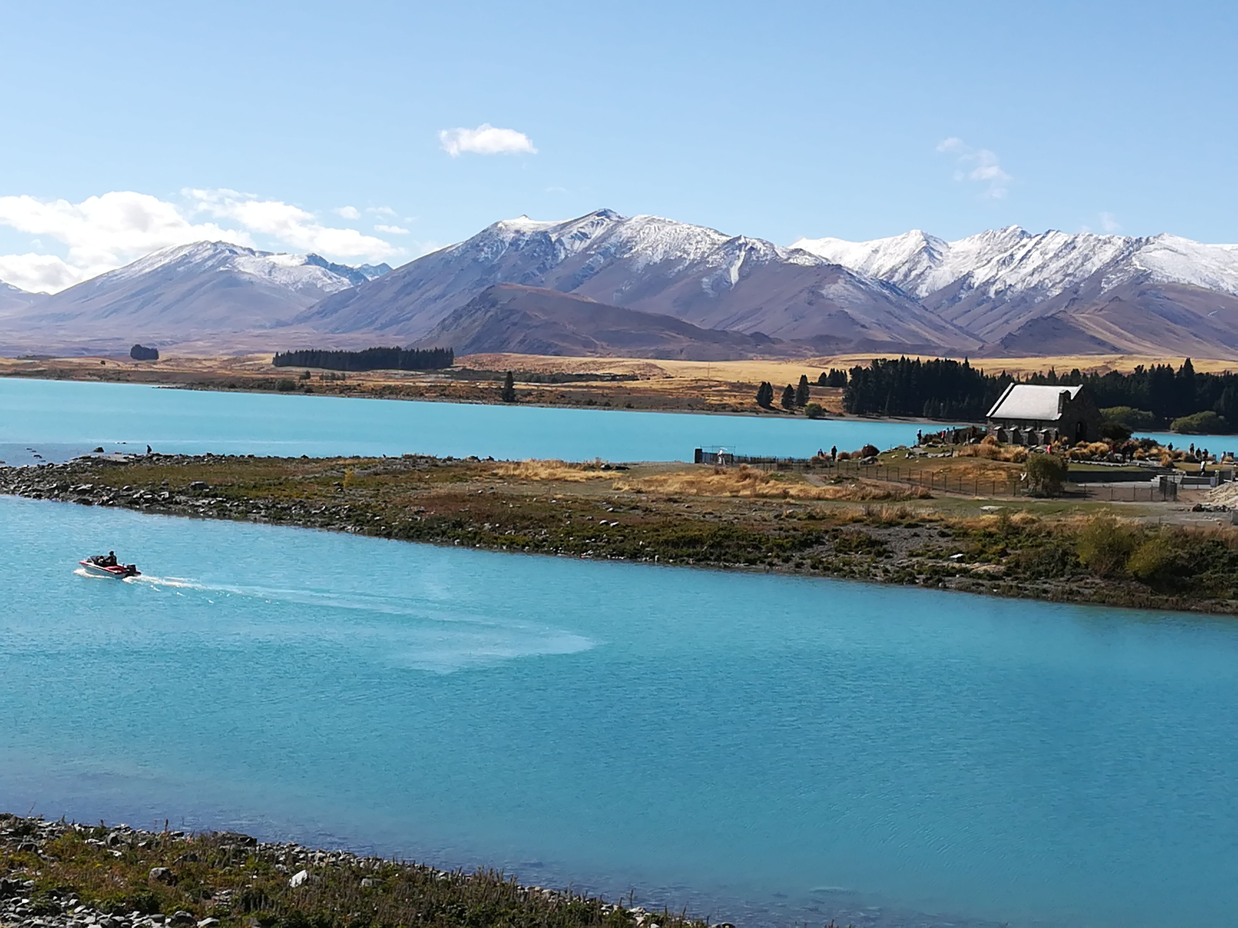 Lake Tekapo with Church of the Good Sheperd