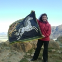 Me holding the Rohan flag