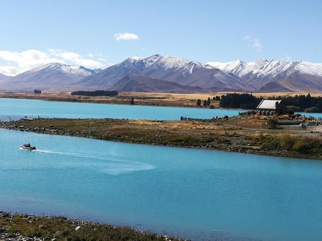Lake Tekapo with Church of the Good Sheperd