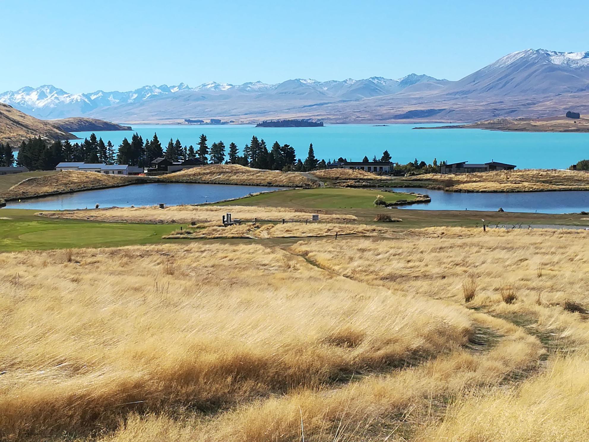 View of Lake Tekapo from the Golf Course