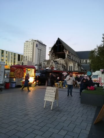 Food Trucks & Anglican Cathedral, Cathedral Square